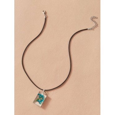 1pc Flower Embedded Necklace