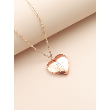 Openable Heart Charm Necklace