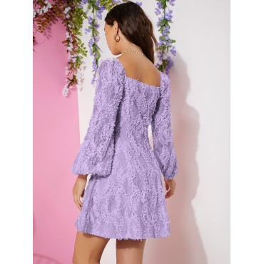 Ruched Bust Cutout Lace Dress