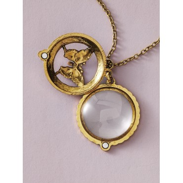 1pc Butterfly & Magnifying Glass Charm Necklace